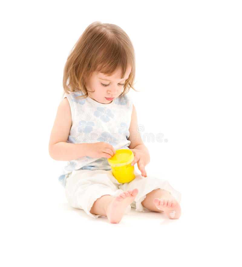 Little Girl With Modelling Foam Royalty Free Stock Photo