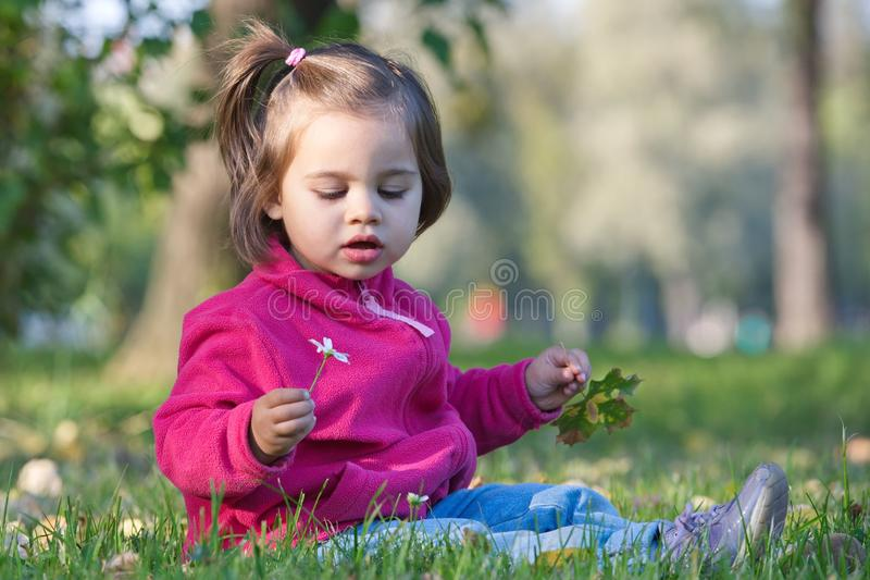 Little Girl In Nature royalty free stock images