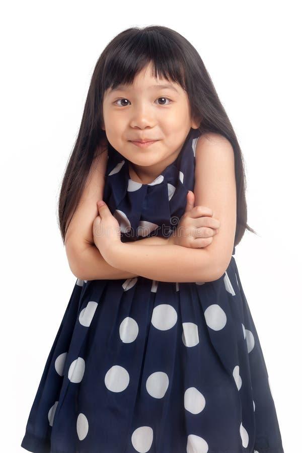 Little Girl Oops Isolated Stock Photo
