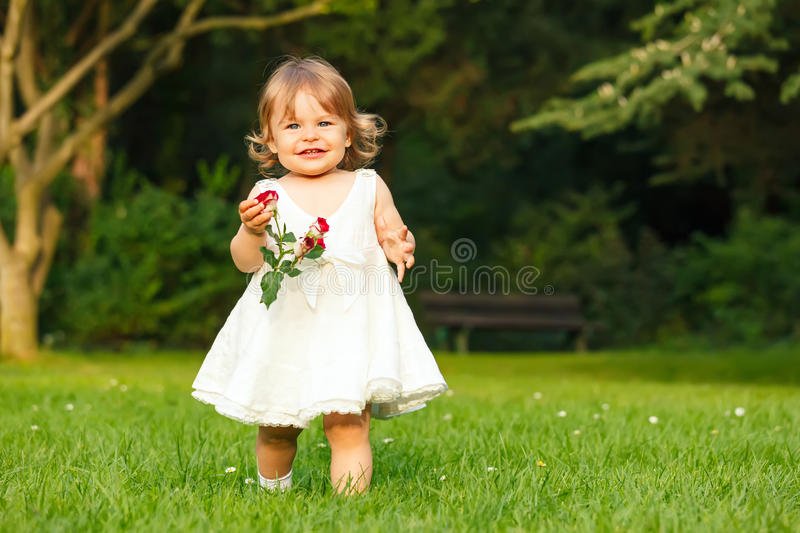 Download Little girl in the park stock photo. Image of life, child - 26120602