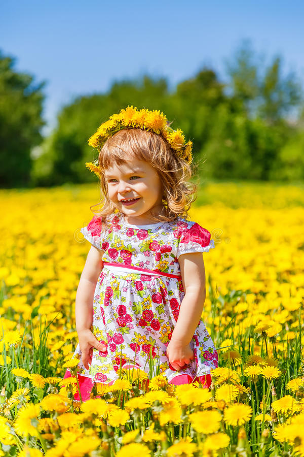 Download Little girl in the park stock photo. Image of dress, outside - 38418158