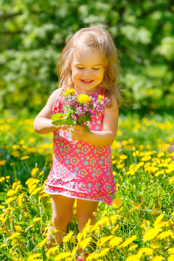 Download Little girl in the park stock image. Image of cheerful - 38418227