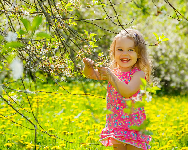 Download Little girl in the park stock image. Image of lovely - 38418253