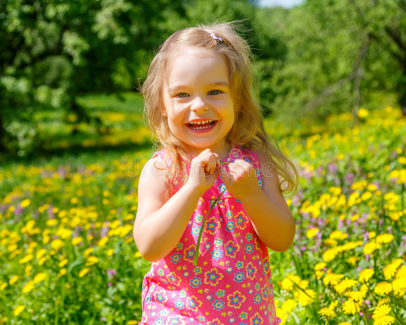 Download Little girl in the park stock photo. Image of garden - 38788740