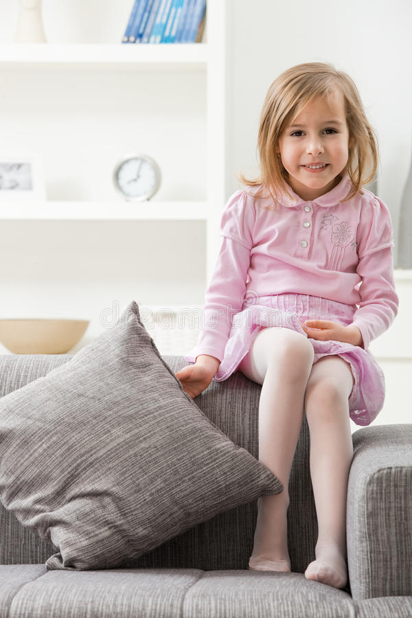 Little girl in pink royalty free stock photos