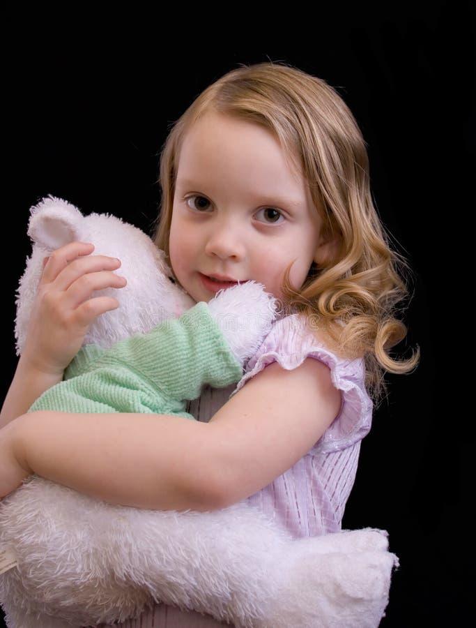 Little girl in pj's stock image