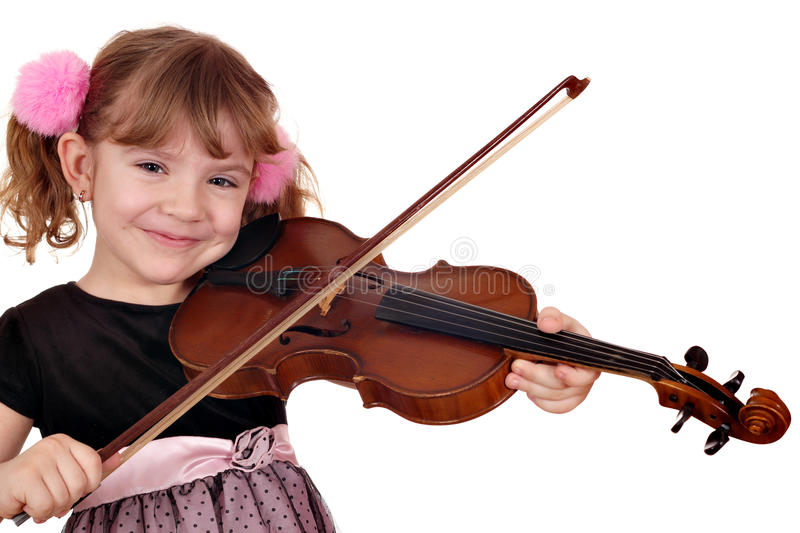 Download Little girl play violin stock photo. Image of daughter - 28892396