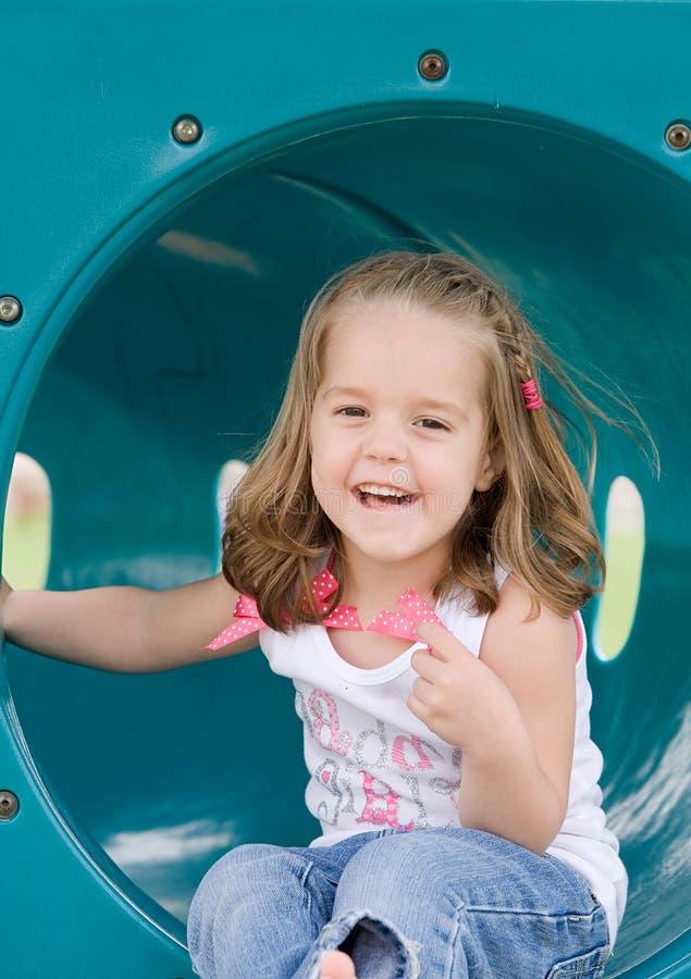 Little Girl Playing stock photo