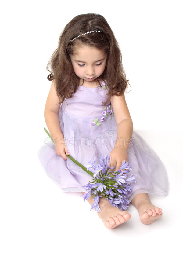 Download Little girl playing stock image. Image of face, purple - 9282309