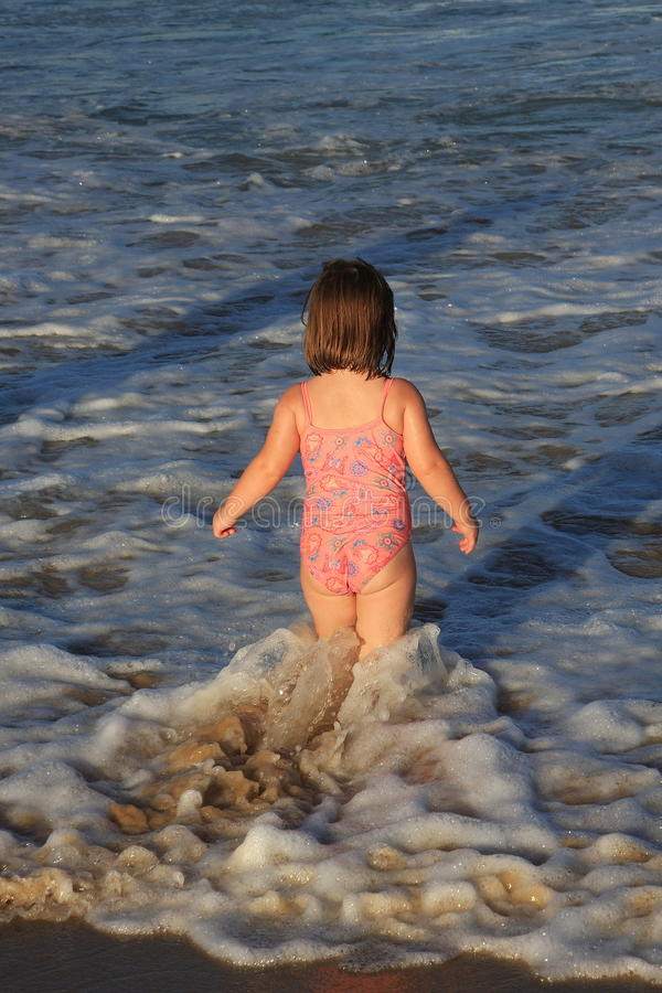 Free Little Girl Playing On The Beach Stock Photo - 30349410