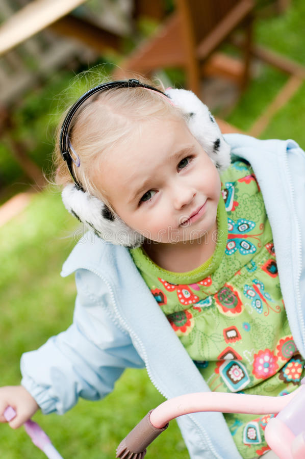 Download Little Girl Playing Outside Stock Image - Image: 19947249