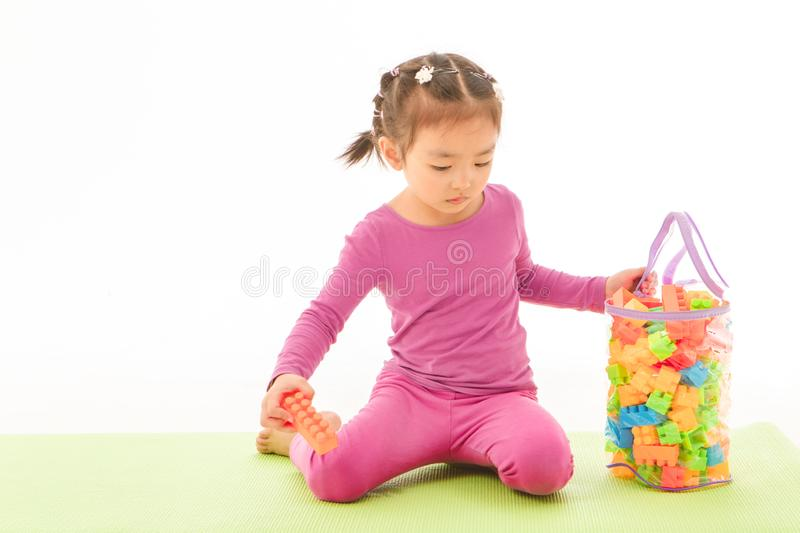 Little girl playing royalty free stock image