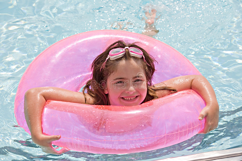 Download Little Girl At The Pool Royalty Free Stock Photos - Image: 8521928