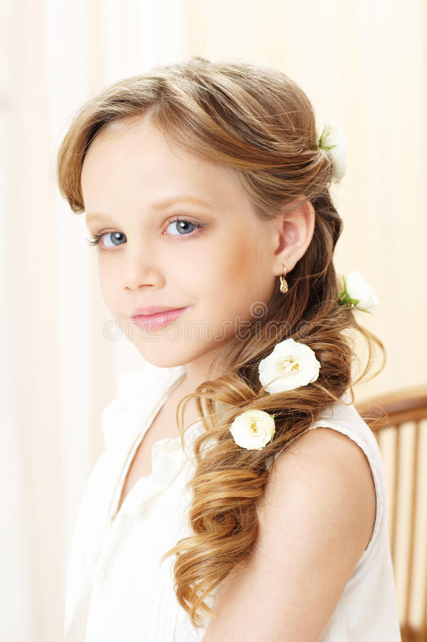 Download Little girl portrait stock image. Image of cute, color - 27513501