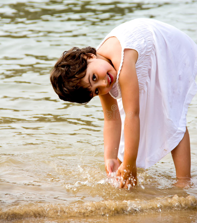 Download Little girl portrait stock image. Image of play, female - 32787159