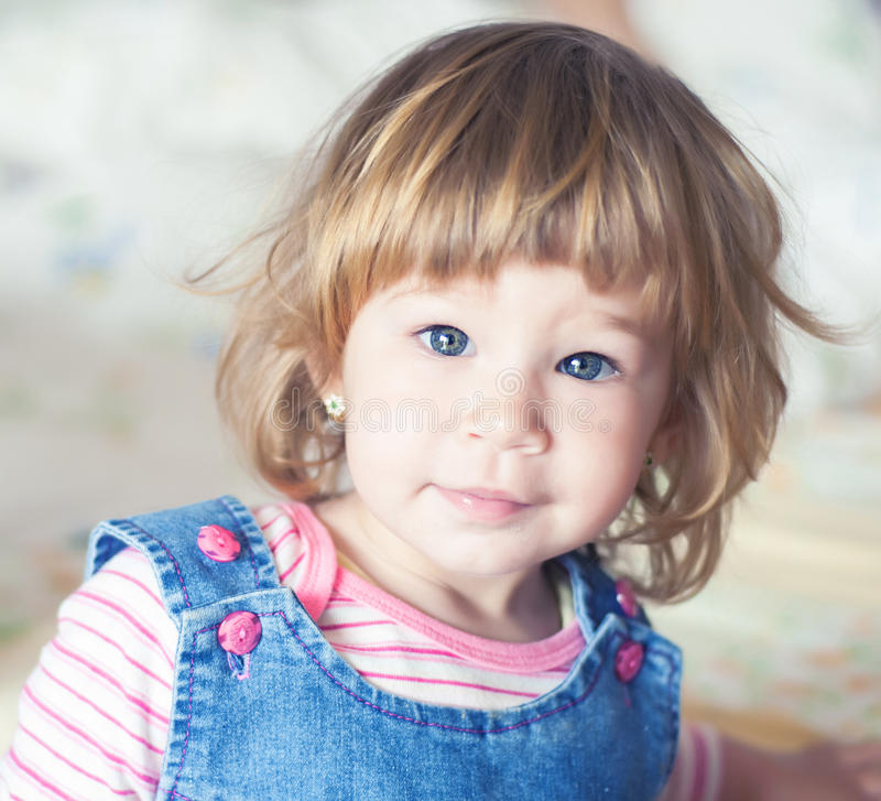 Little girl portrait. Cute little girl portrait in natural light stock images