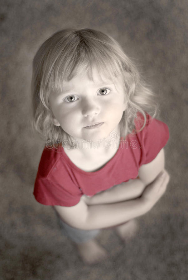 Little Girl Portrait stock photography