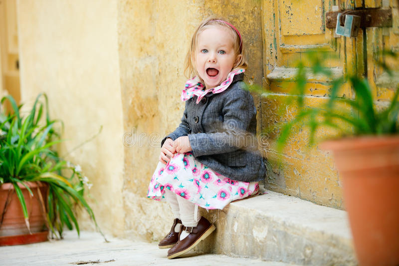 Download Little Girl Portrait Outdoors Stock Photo - Image: 21108456