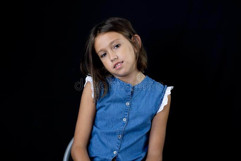 Little girl posing stock photos
