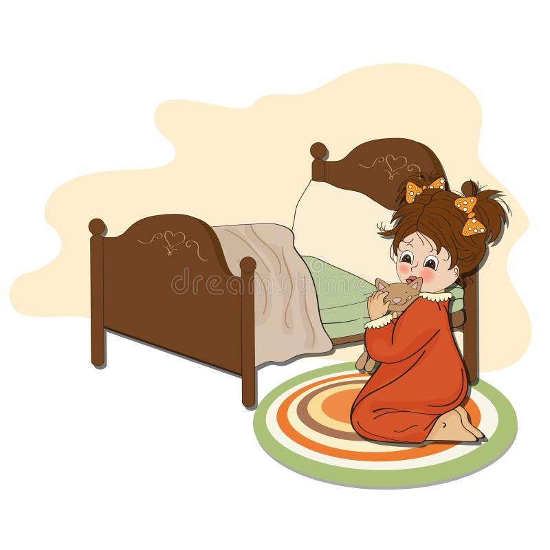 Download Little Girl Is Preparing For Sleep Stock Photo - Image: 31462140