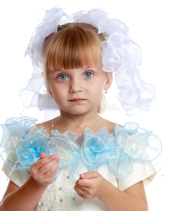 Little girl princess close-up. stock photo
