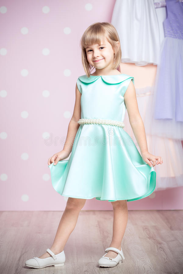 Little girl in princess dress. Cute smiling little girl in princess dress royalty free stock photography