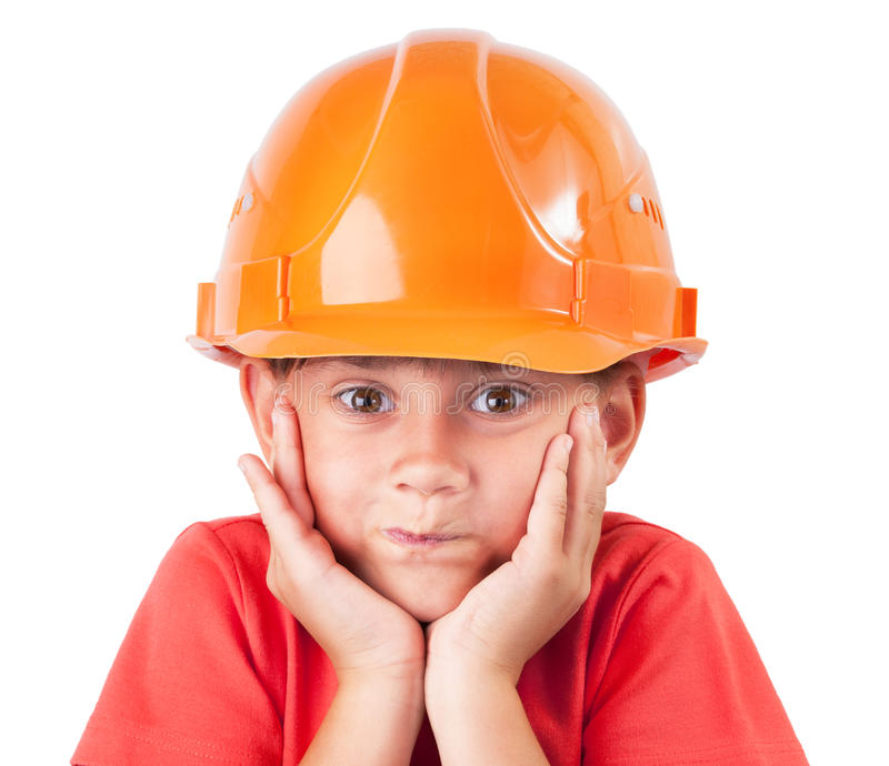 Little Girl In A Protective Helmet Stock Images