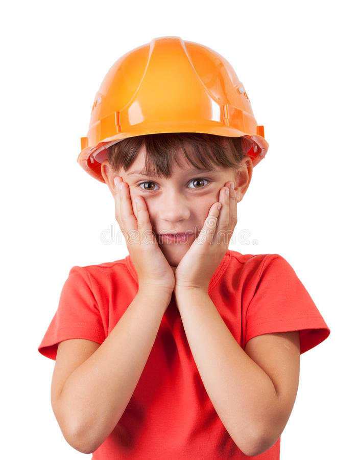 Download Little Girl In A Protective Helmet Stock Photo - Image: 29261948