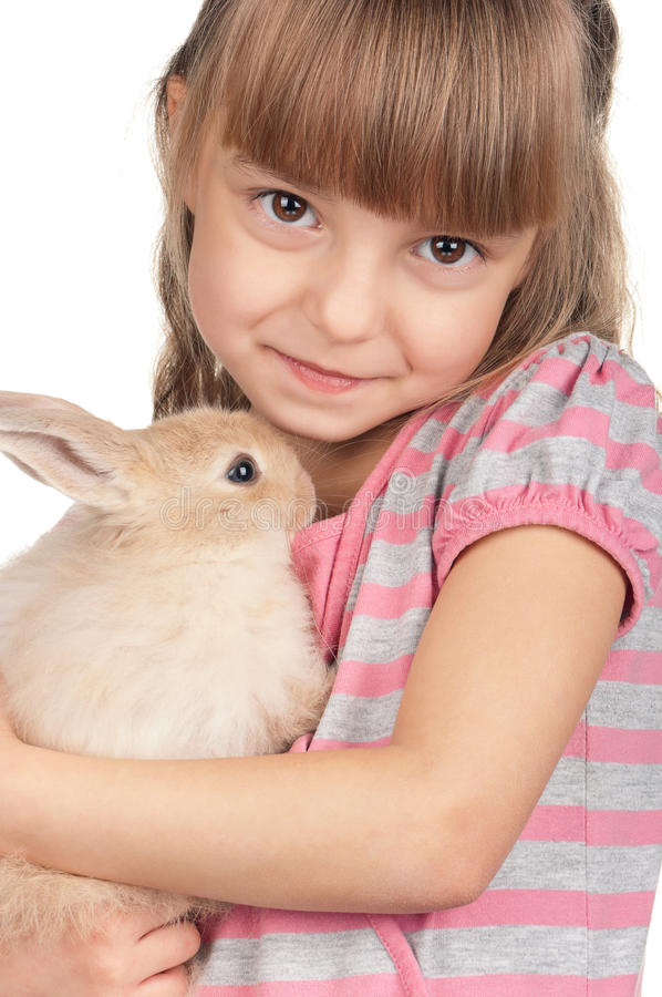 Download Little Girl With Rabbit Stock Image - Image: 23747701
