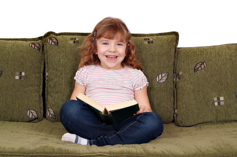 Download Little girl reading a book stock image. Image of beautiful - 23524673