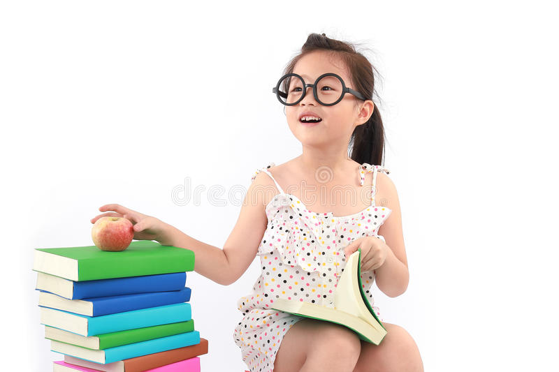 Download Little Girl Reading The Book Stock Image - Image: 24990059