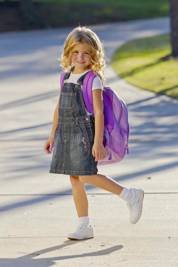 Download Little Girl Ready For School Stock Image - Image: 21462763