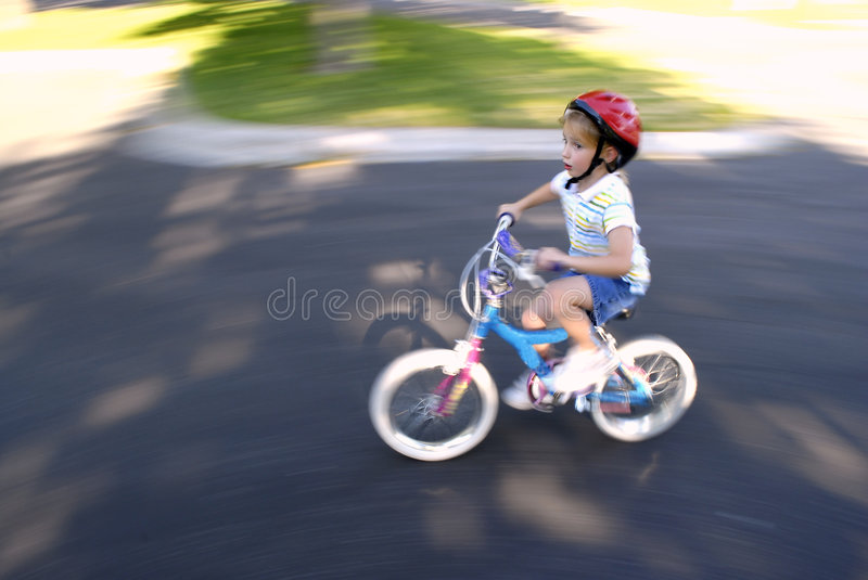 Download Little Girl Riding a Bike stock photo. Image of laugh - 5753416
