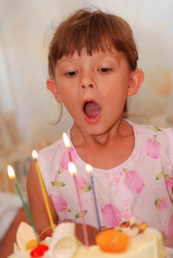 Little girl's birthday stock photo