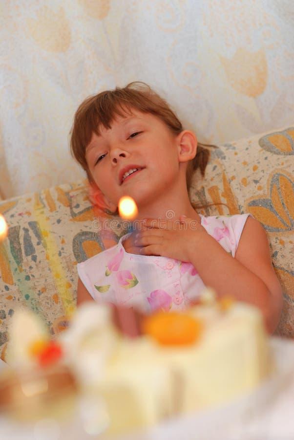 Little girl's birthday stock photography