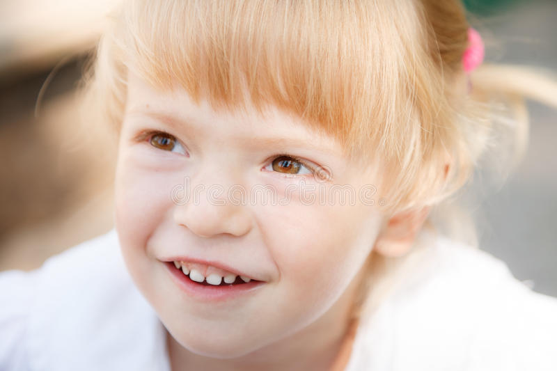 Little girl's face stock photography