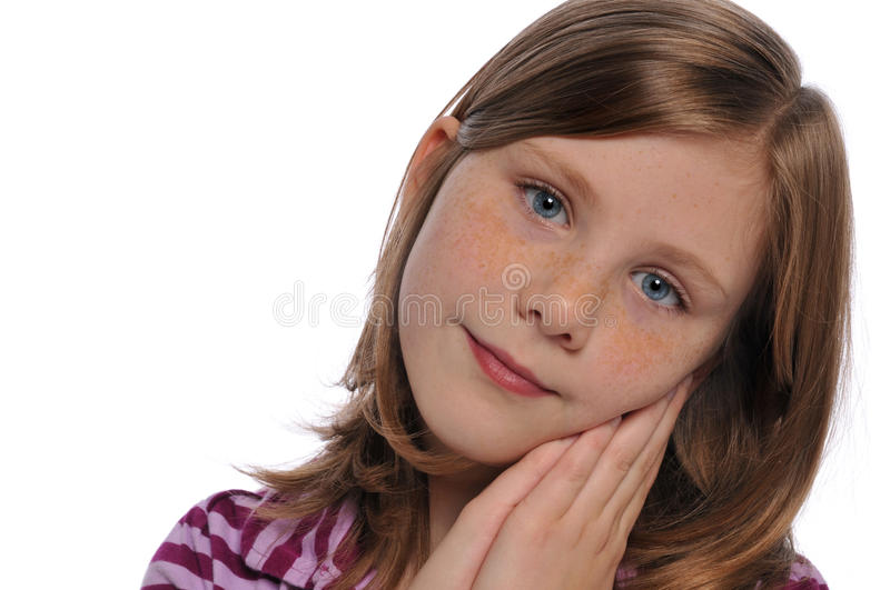 Little girl's portrait stock photo