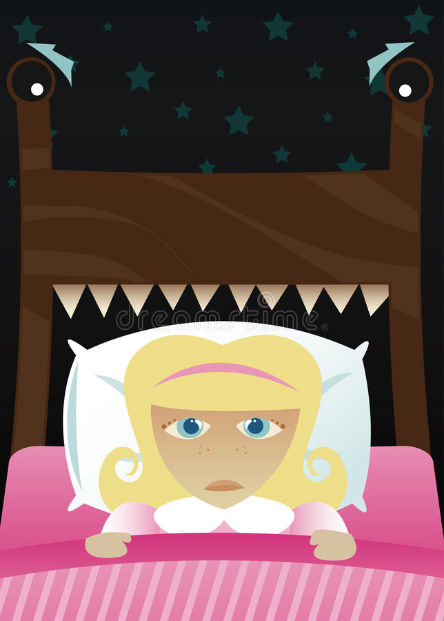 Little Girl S Scared Of The Dark Royalty Free Stock Photography