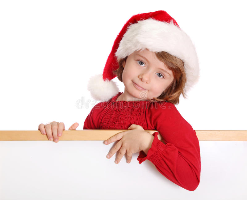 Download Little girl with santa hat stock photo. Image of child - 11705176