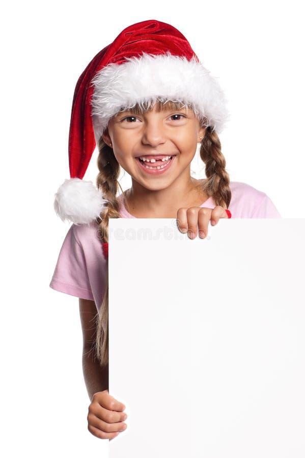 Download Little girl in Santa hat stock photo. Image of caucasian - 26483762