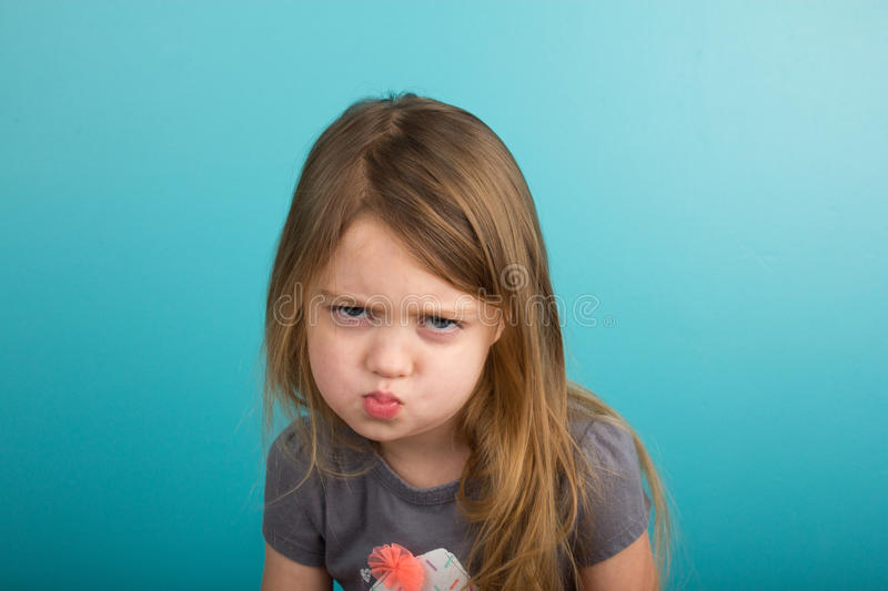 Little girl with sassy expression royalty free stock photos