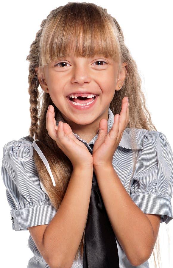 Download Little Girl In School Uniform Stock Image - Image of happy, autumn: 26584447