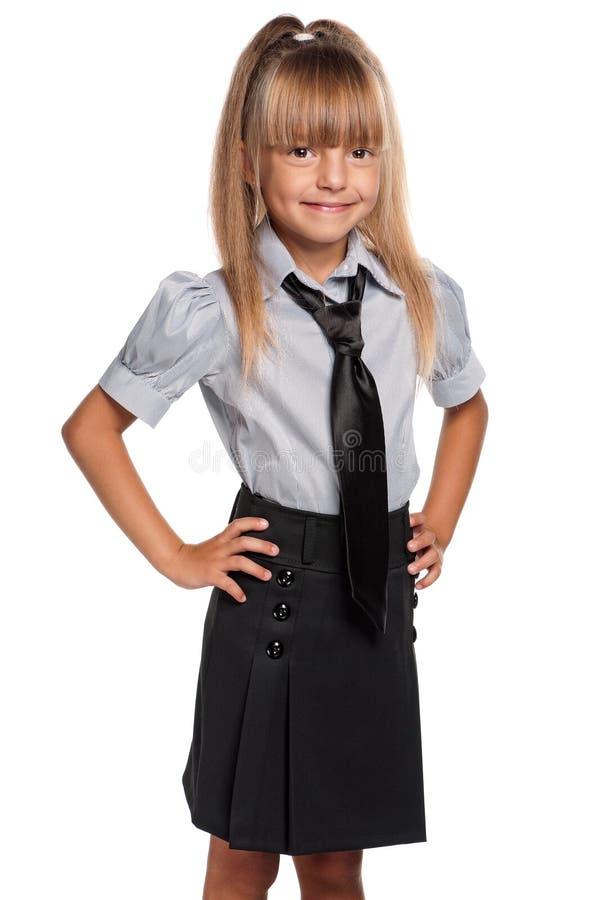 Download Little Girl In School Uniform Stock Image - Image: 26688271