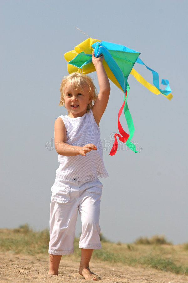 Little girl at the seaside royalty free stock images