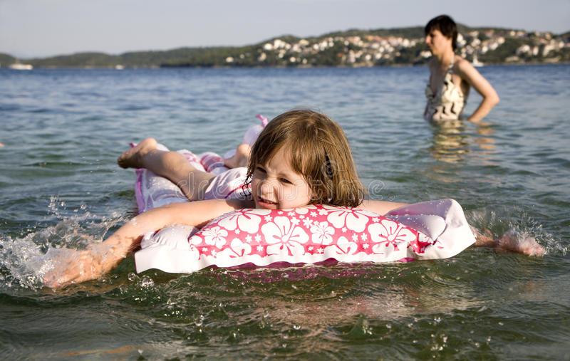 Little Girl On The See - Holiday Royalty Free Stock Image