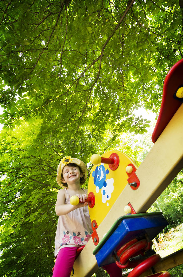 Download Little Girl On Seesaw/teeter-totter Stock Image - Image: 25544209