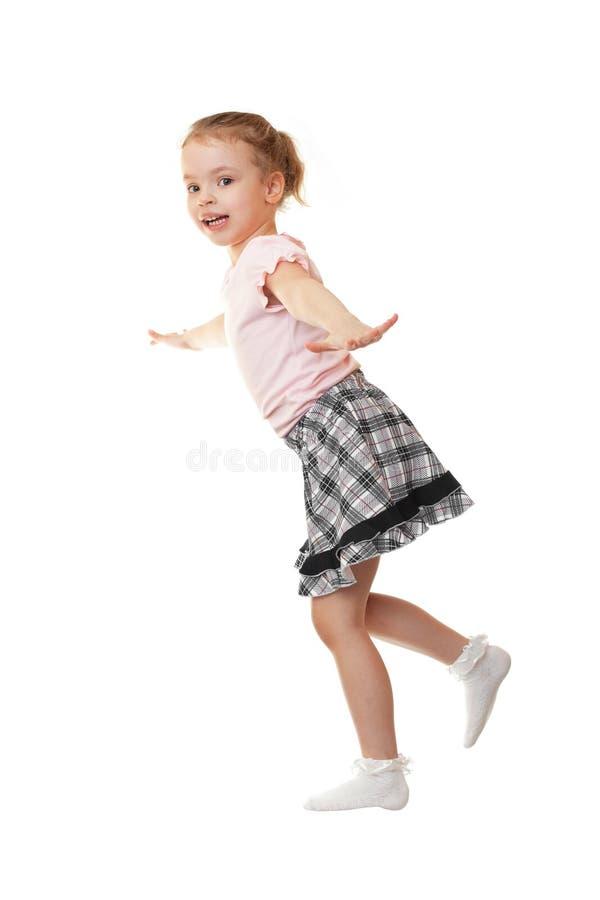 Little Girl Shows A Bird. Stock Photo