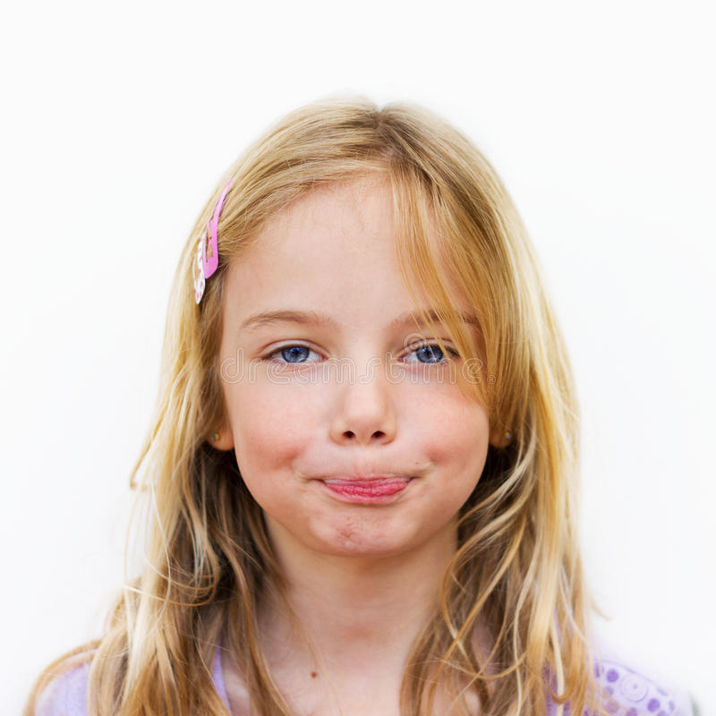 Little girl, silence stock photography
