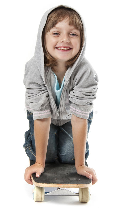 Download Little Girl On A Skateboard Stock Photos - Image: 26255773