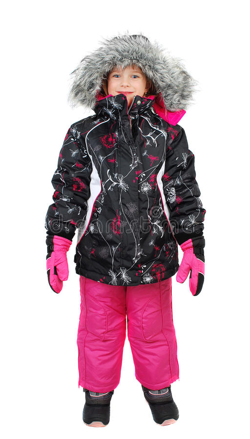 Download Little girl in ski wear stock photo. Image of fashion - 22105366